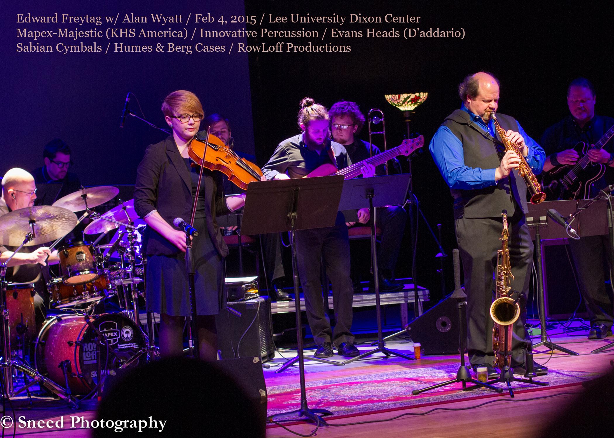 Playing on Alan Wyatt's jazz performance at Lee University, 2015
