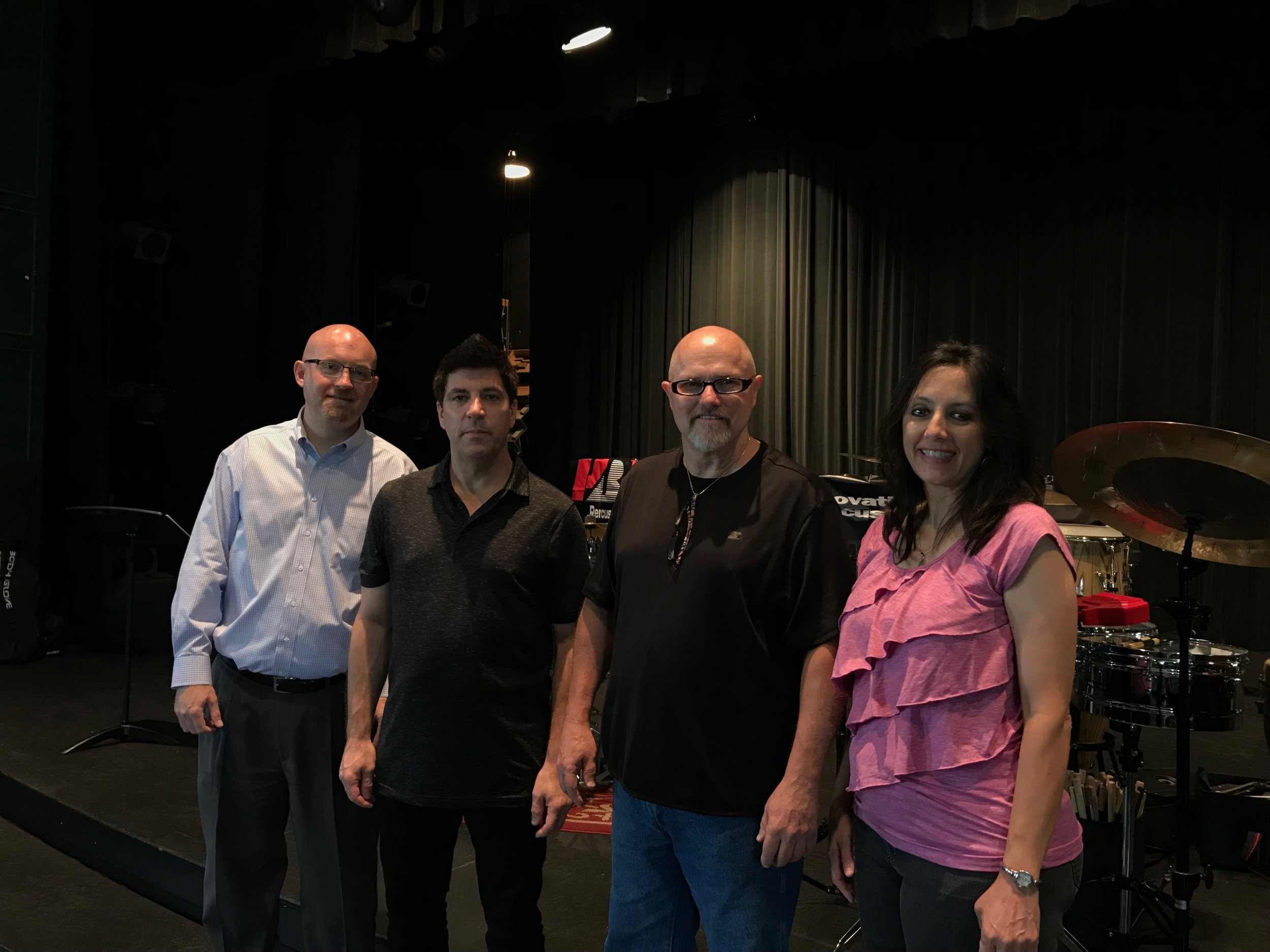 The quartet for the Littlestone Music Camp Clinic, July 2018