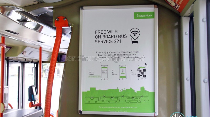 Free Wi-Fi access on SBS Transit Service 291 - READ MORE