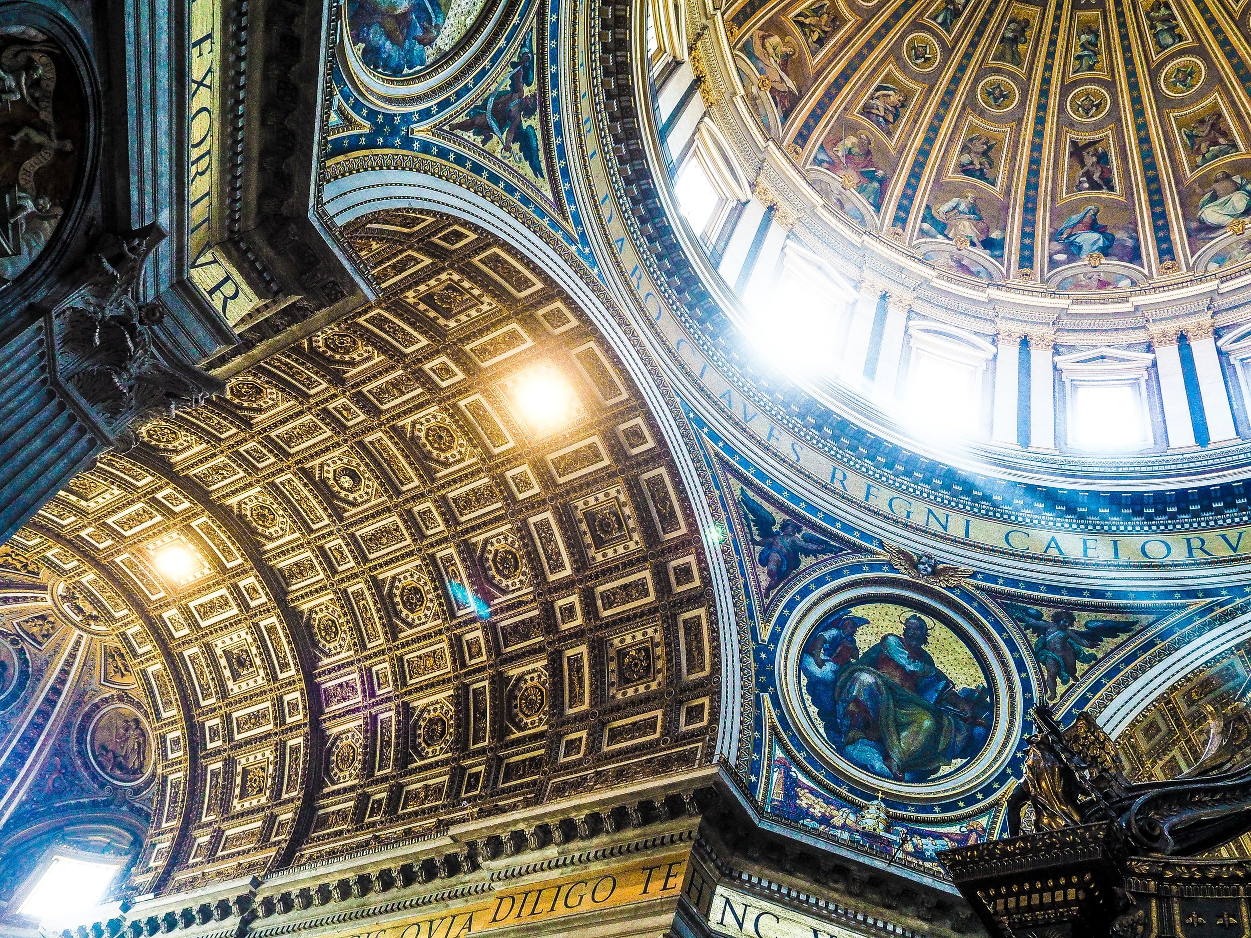 ...stained glass windows and painted masterpieces were read as an open book... -