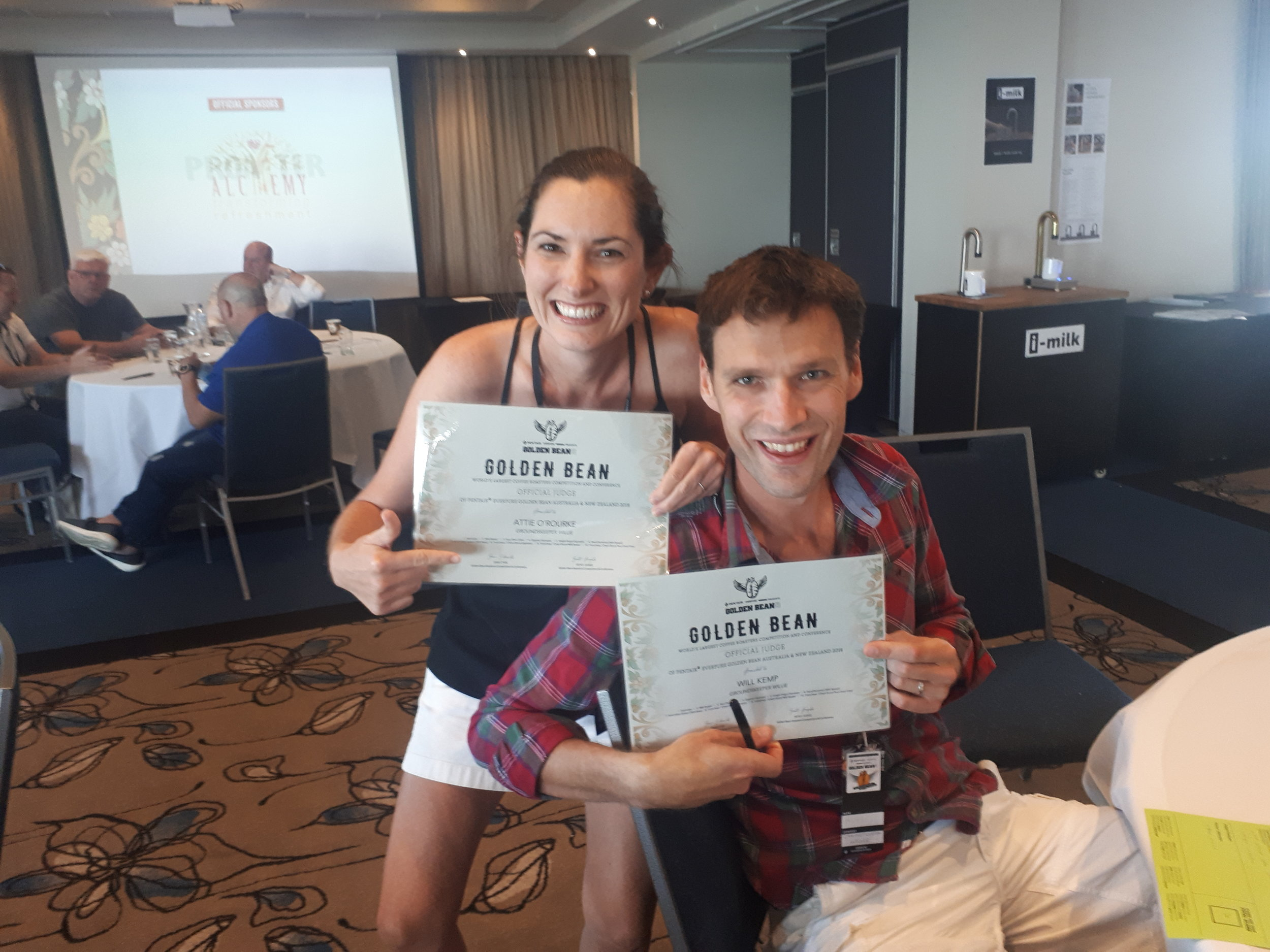 Judging, day two at the Golden Bean AU/NZ 2018