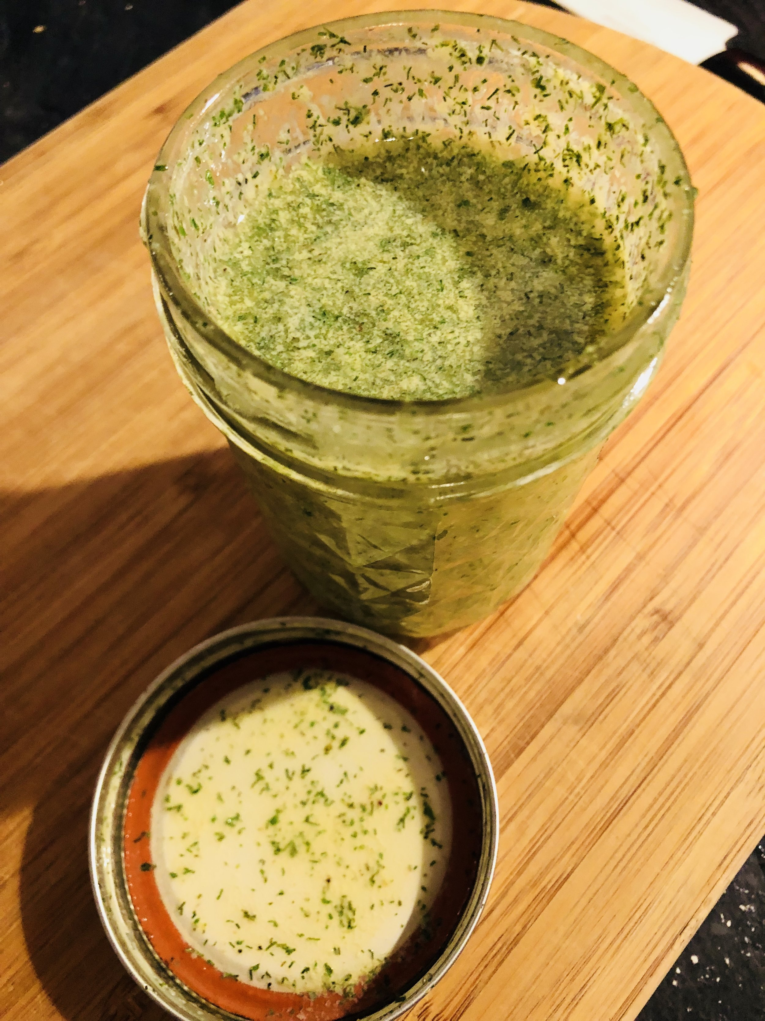 Green Dressing! No avocados were hurt in the making of this dressing!