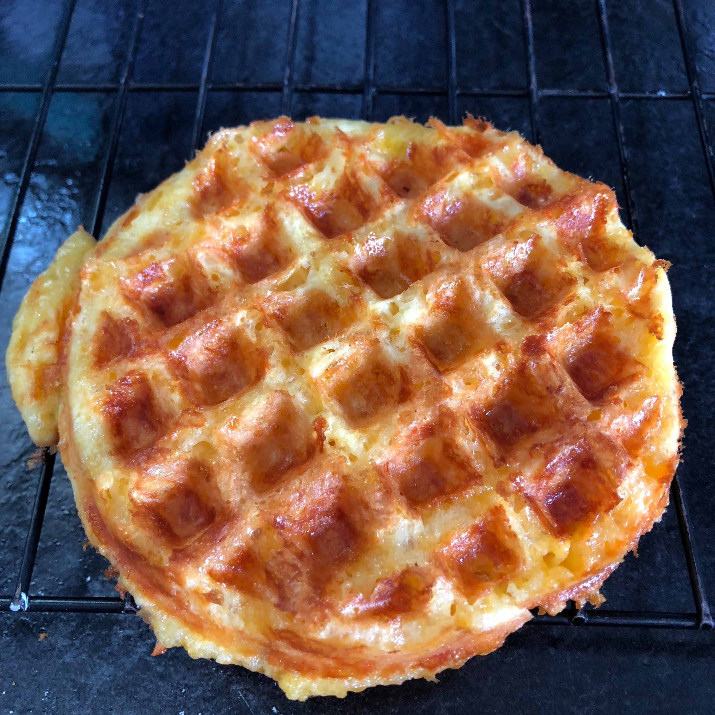 Beautiful Grain Free Cheesy Waffle!!!