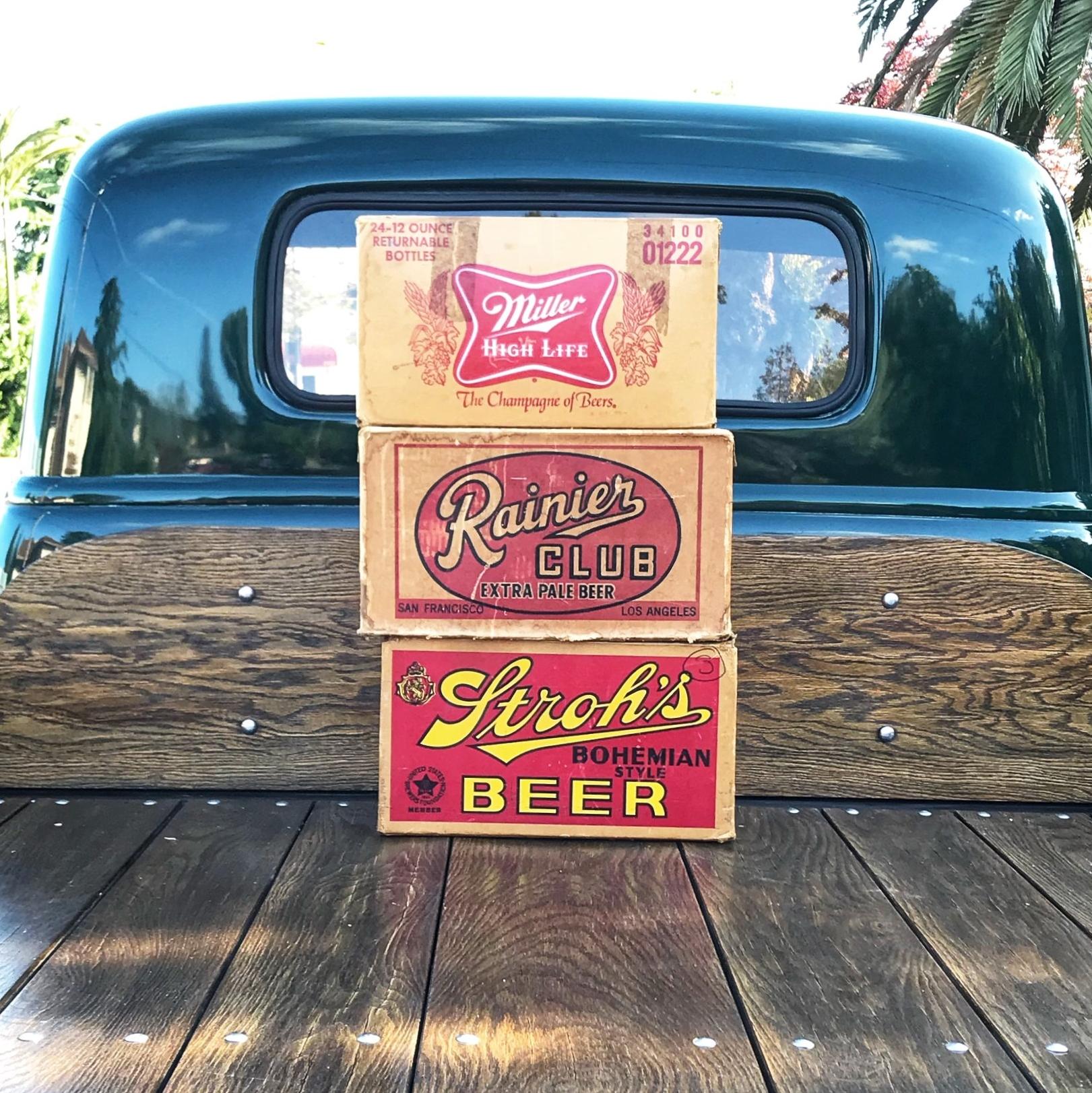 Vintage Beer Boxes
