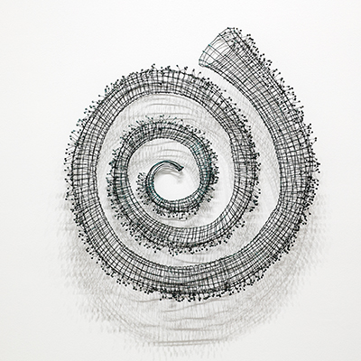 Bronwyn Oliver  Spiral I  1988 copper, lead 110 x 100 x 16 cm © Estate of Bronwyn Oliver. Courtesy Roslyn Oxley9 Gallery, Sydney