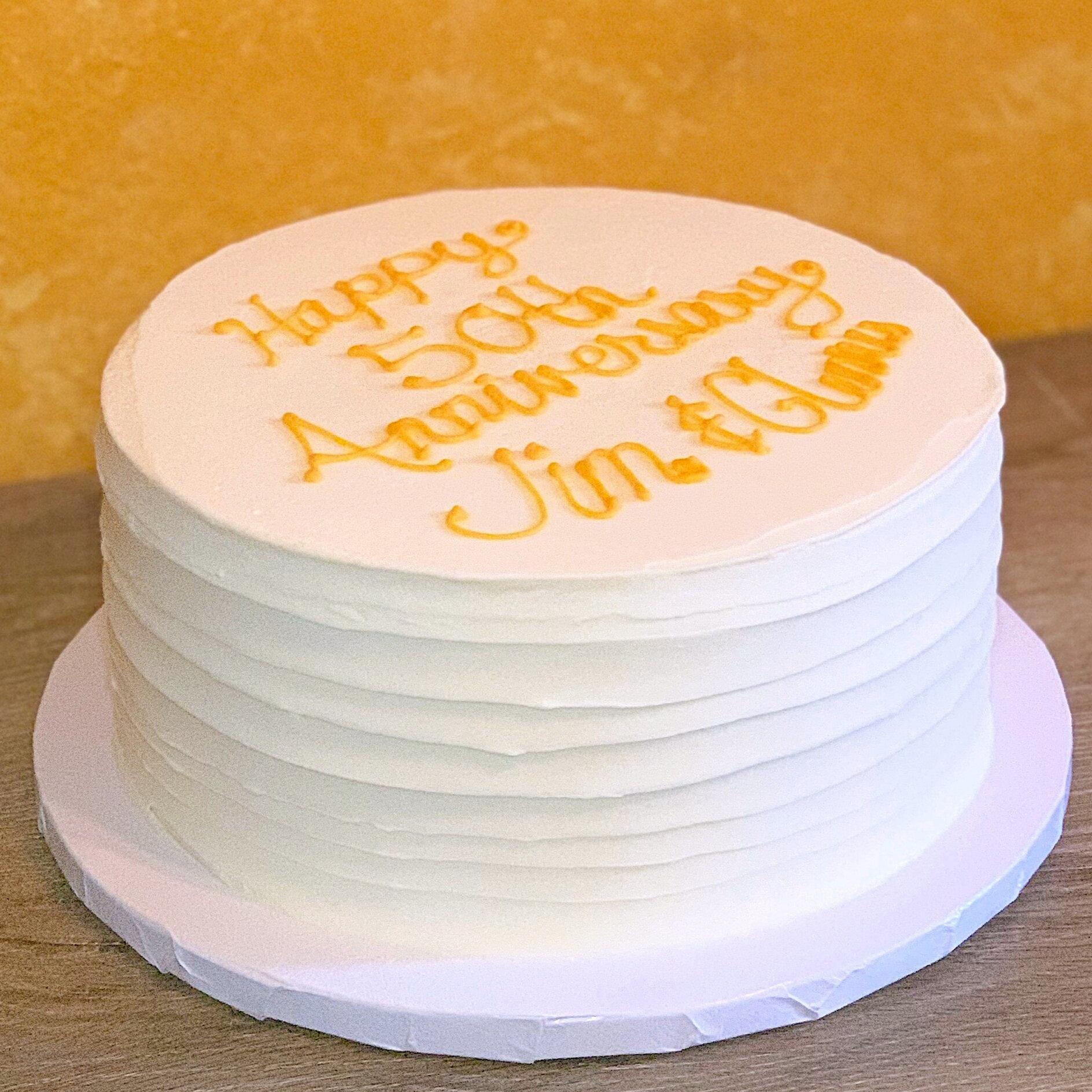 Gluten Free Lilikoi Vanilla Cake