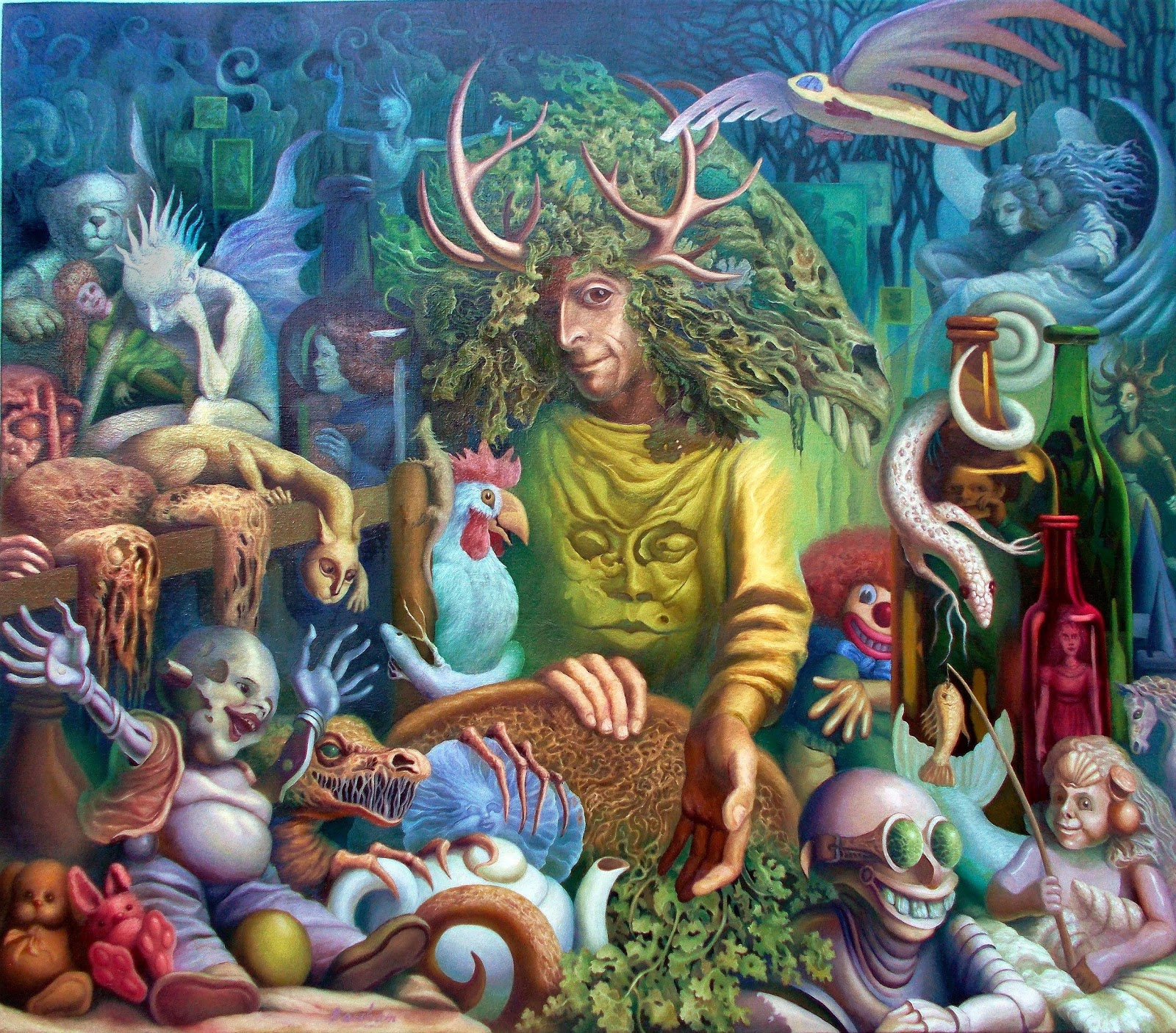 Paintings by Elizabeth Barsham - Paul SutherlandShane's Grassy Oppy, Oil on Canvas, 105 cm x 122 cm.