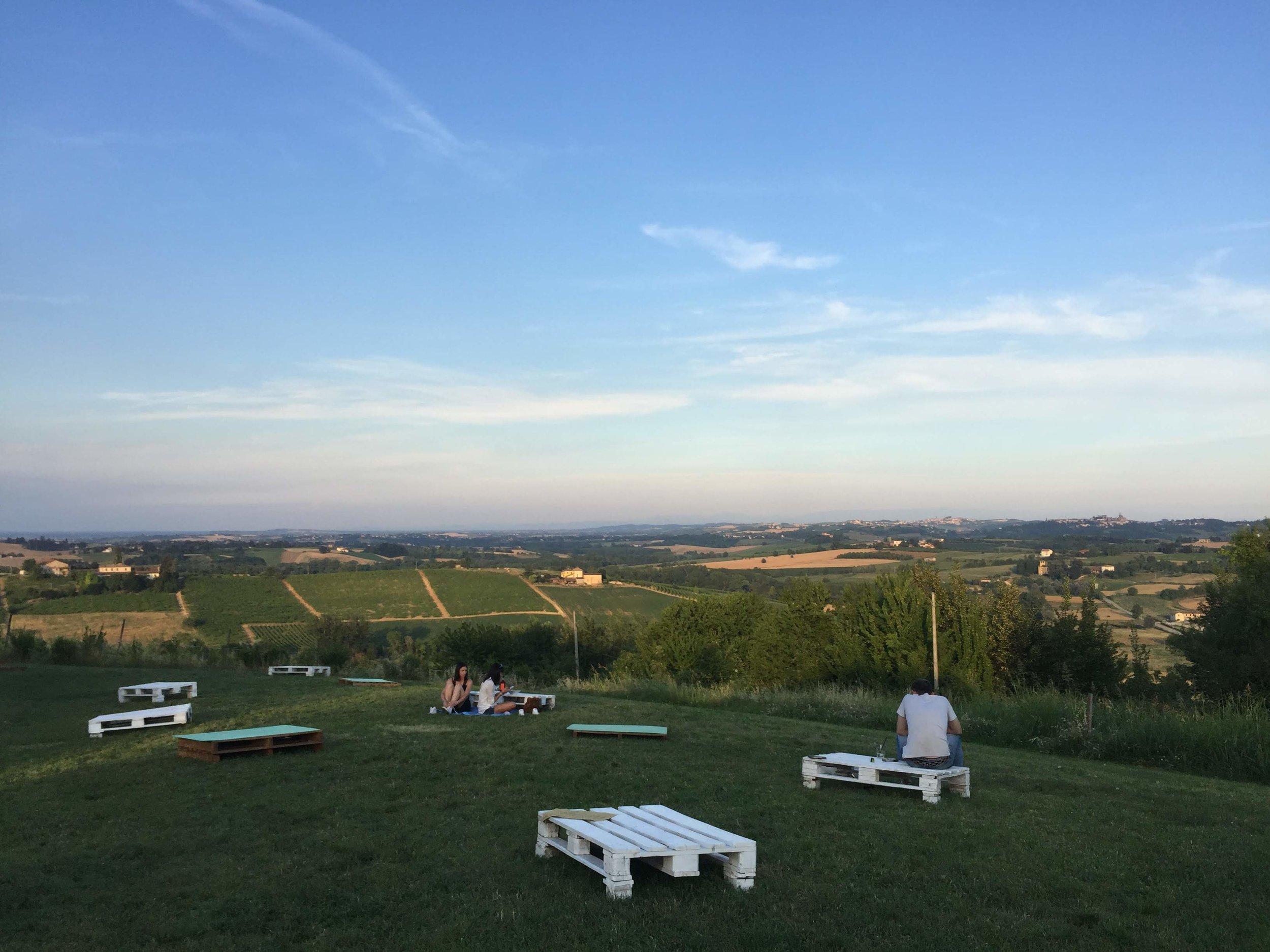 Vista Panoramica sulle colline del Monferrato