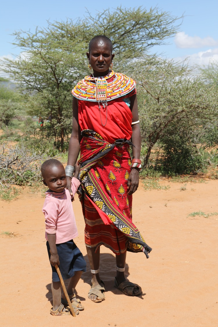 Yiampan and her son
