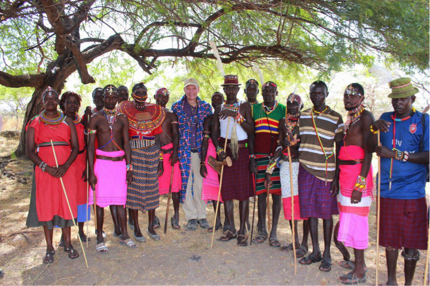 US Ambassador to Kenya Robert Godec with Ruko Conservancy members