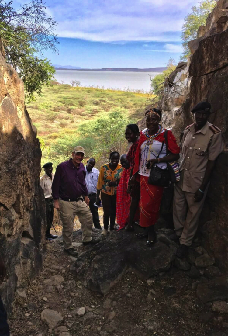 Ambassador Godec with the Ruko team on Giraffe Island