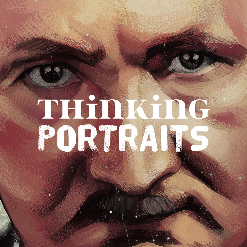 Thinking Portraits - With the portrait-painting experience I'd gained from working for The School of Life, I would later go on to create a project of my own. With this project I intend to illustrate portraits, alongside showing the process, of modern-day thinkers. The project's aim is to get philosophy-aficionados interested in the philosophers that are actually still alive and working.You can find these portraits here:Thinking Portraits