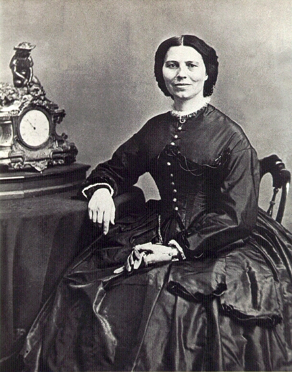 Clara Barton was photographed by Matthew Brady around 1865, as the war was ending; this guy photographed battlefields and many famous people, including Abe Lincoln.    Courtesy of Clara Barton National Historic Site/National Park Service.