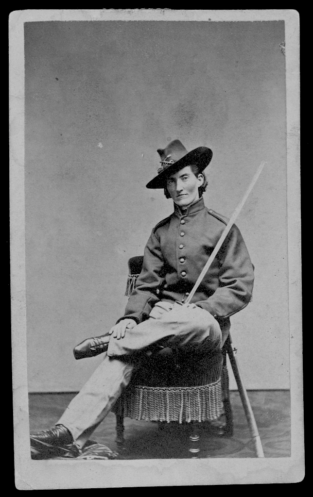 Looking dapper there, Frances! 'Jack Williams' did all the manly things to blend in: chewed tobacco, drank, swore, gambled. You name it! She also cut a very fine figure in her Union blues.   Courtesy Library of Congress