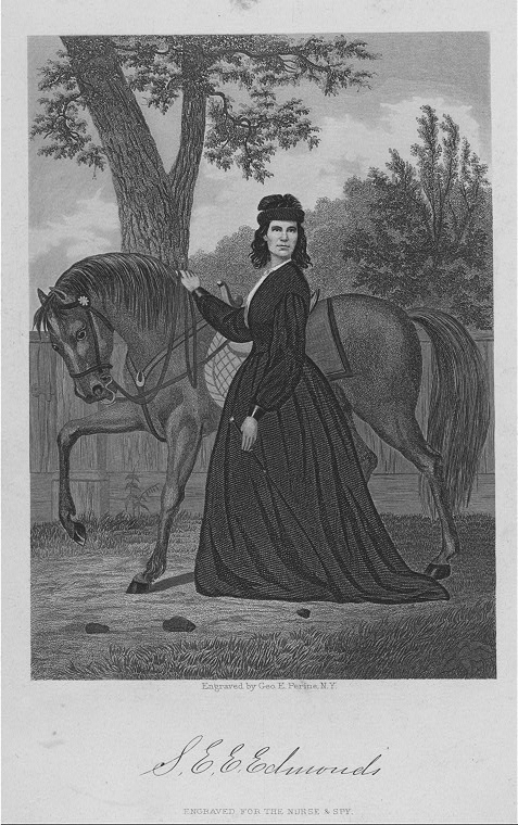 This image is from Emma's 1864 memoir, Nurse and Spy in the Union Army