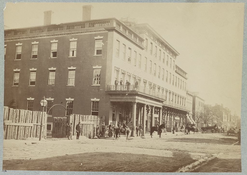 Mansion House Hospital in Alexandria, VA, where Emma worked. Courtesy of the LOC.