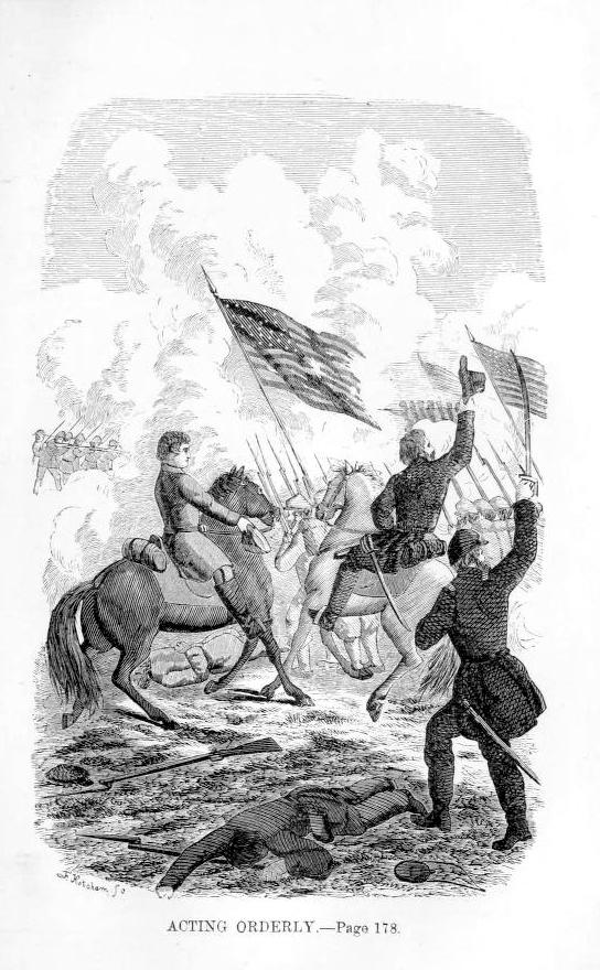 Emma battling the enemy. From her memoir, which can be read for free at Archive.org.