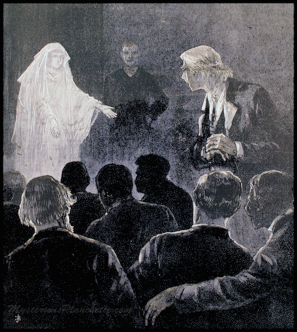 Victorians were ready and willing to be haunted. - An 1888 Illustration from Frank Leslie's Illustrated Weekly.
