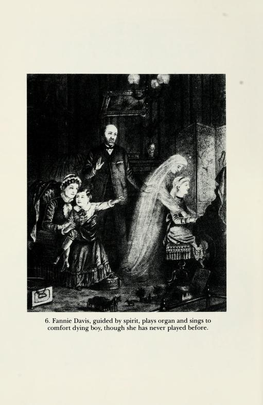 An illustration of a women being taken over by the spirit, forced to play delightful music from beyond the grave. In the 19th century, not that uncommon a thing.   from the book Radical Spirits.