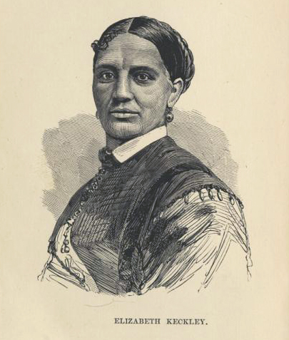 An illustration from the front of Lizzie's beautiful, but destined-to-be-shat-on-in-its-time memoir,  Behind the Scenes: Thirty Years a Slave and Four Years in the White House  (1868).