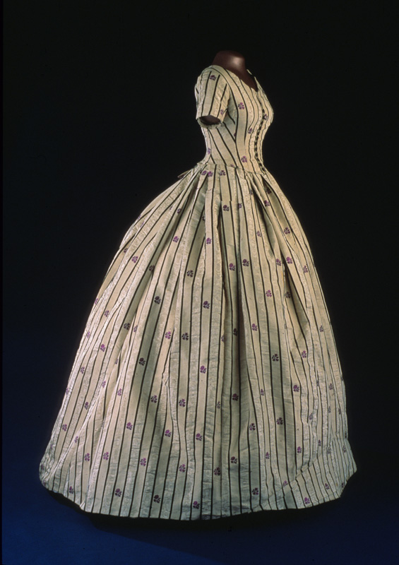 A lovely Mary Lincoln day dress attributed to our friend Lizzie.   Courtesy of the American History Society.