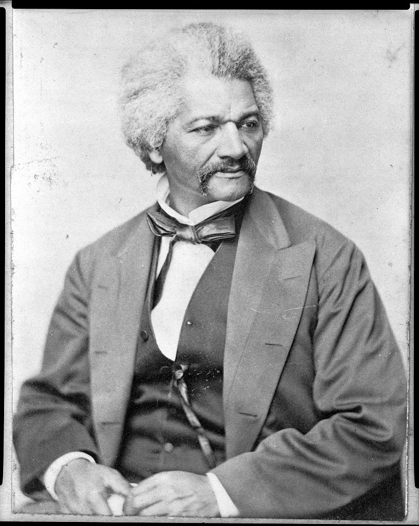 "The dapper Frederick Douglass. I love how he seems to be staring at John Brown like, ""Man, you're really overdoing it.""  (Library of Congress)"