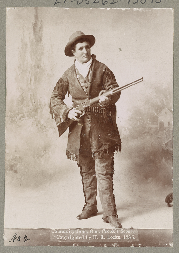 Calamity Jane, who plays a mean fringe game.   Courtesy of the Library of Congress