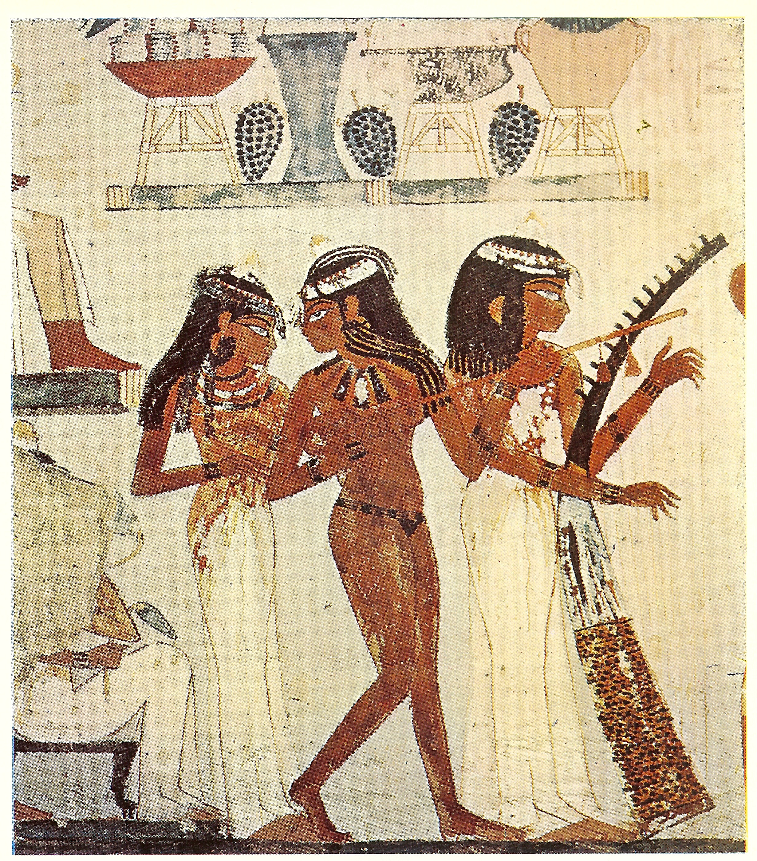 no clothes? no problem. - From Tomb of Nakht, Wikicommons