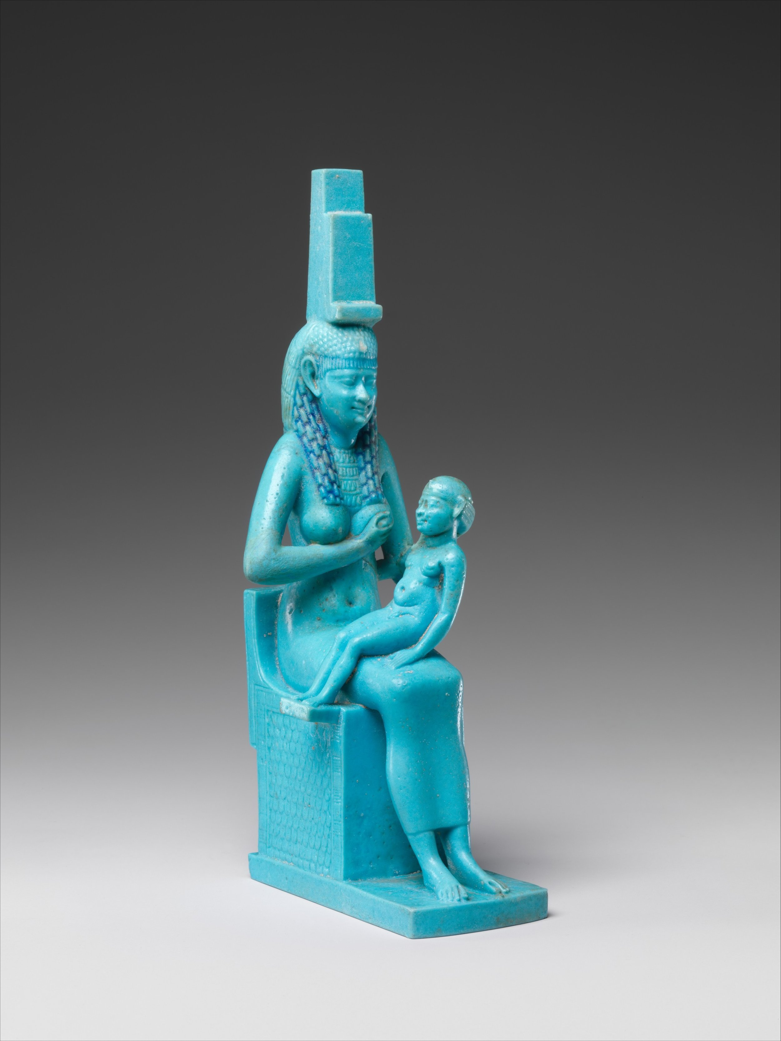 Statuette of Isis and Horus, 332–30 BCE. Being the mother of kings makes you a very powerful woman. It's from you that the divine seed flows! - Courtesy of the Metropolitan Museum of Art.