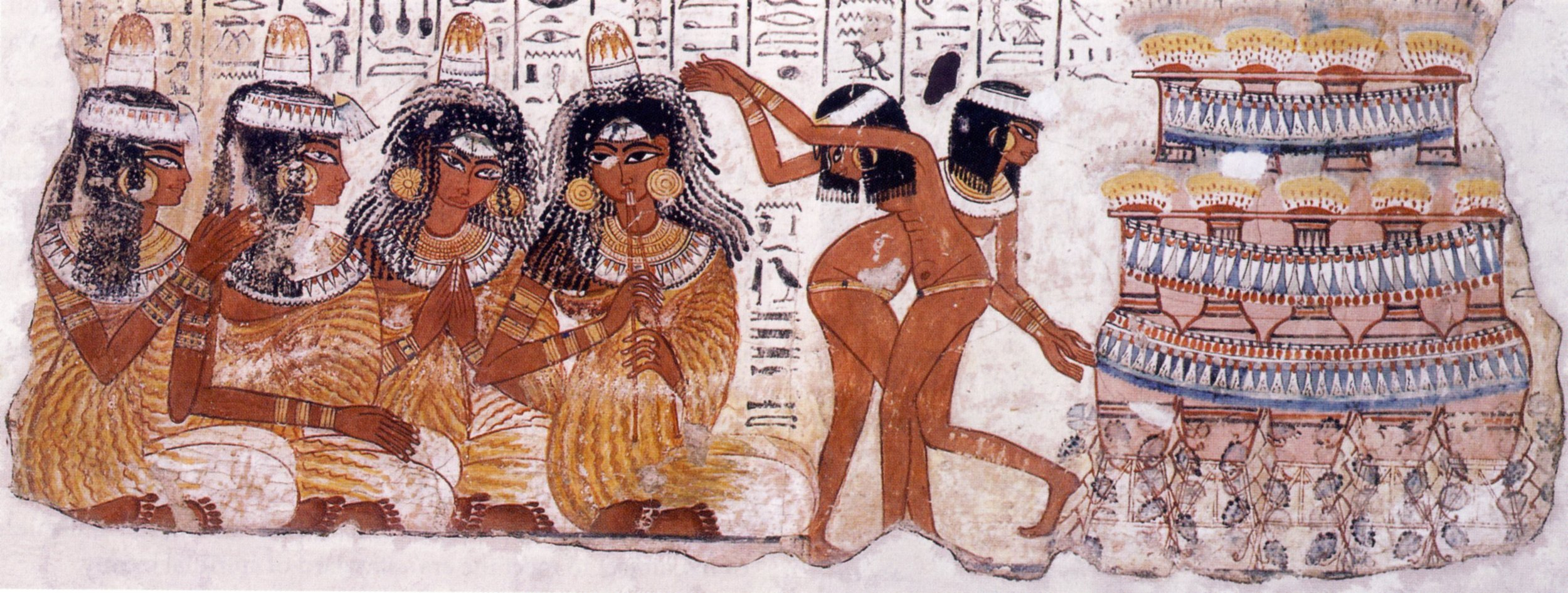 Let's Dive In! - A fresco of lady dancers and musicians from the tomb of Nebamun, Wikicommons.
