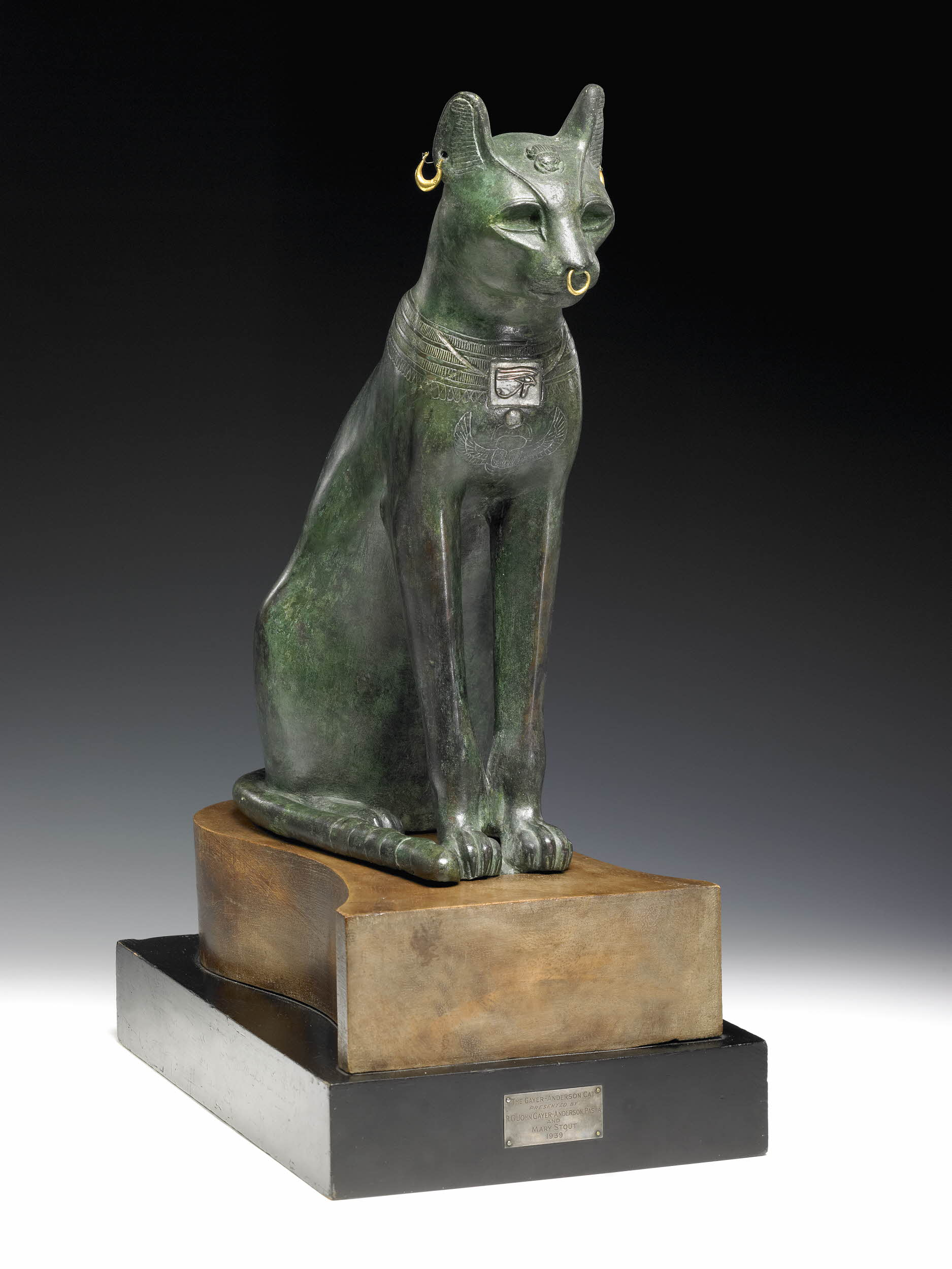 Bastet, or Bast, the cat goddess of domesticity, women's secrets, fertility, and (of course) cats, fertility, and childbirth. She protects the home from evil spirits and disease. So, not a lady you want to make angry. - Courtesy of the British Museum.