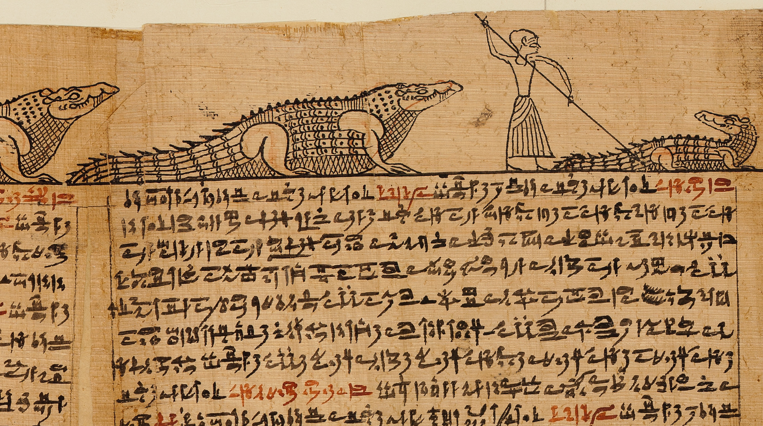 croc dung: a wonderful contraceptive! - A page from the Book of the Dead of the Priest of Horus, Imhotep (Imuthes), ca. 332–200 BCE. Courtesy of the Metropolitan Museum of Art.