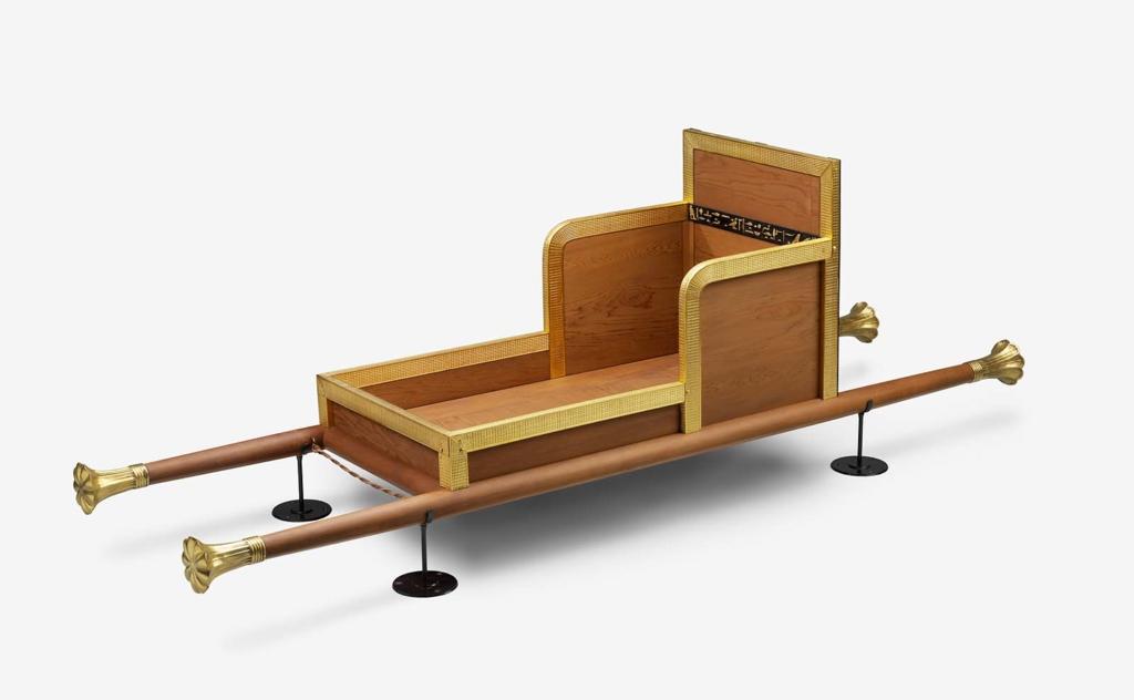 hetepheres'smobile throne chair. yas queen! - Courtesy of the Museum of Fine Art Boston