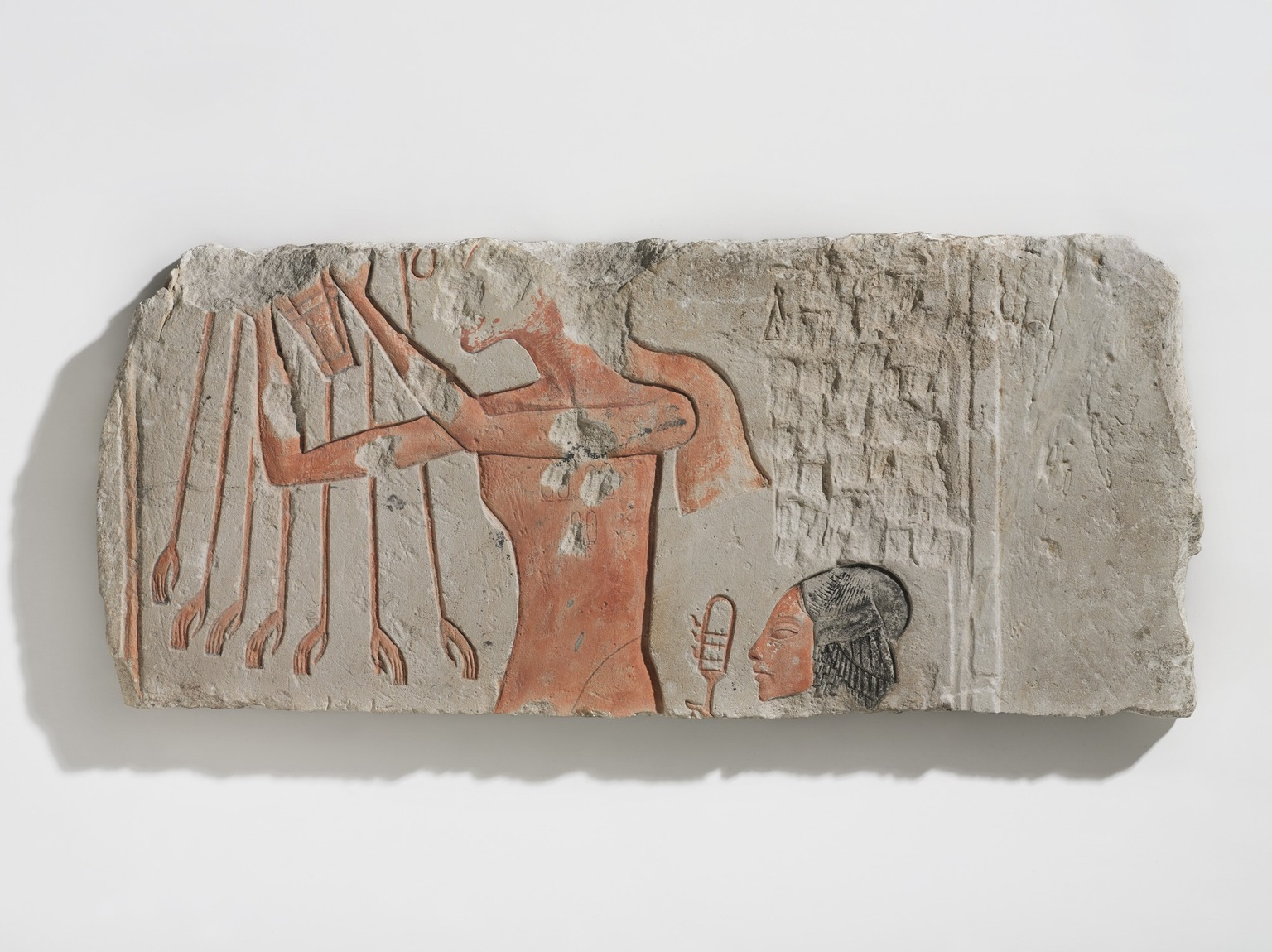 Akhenaten and his daughter offering of the sun. As you do.