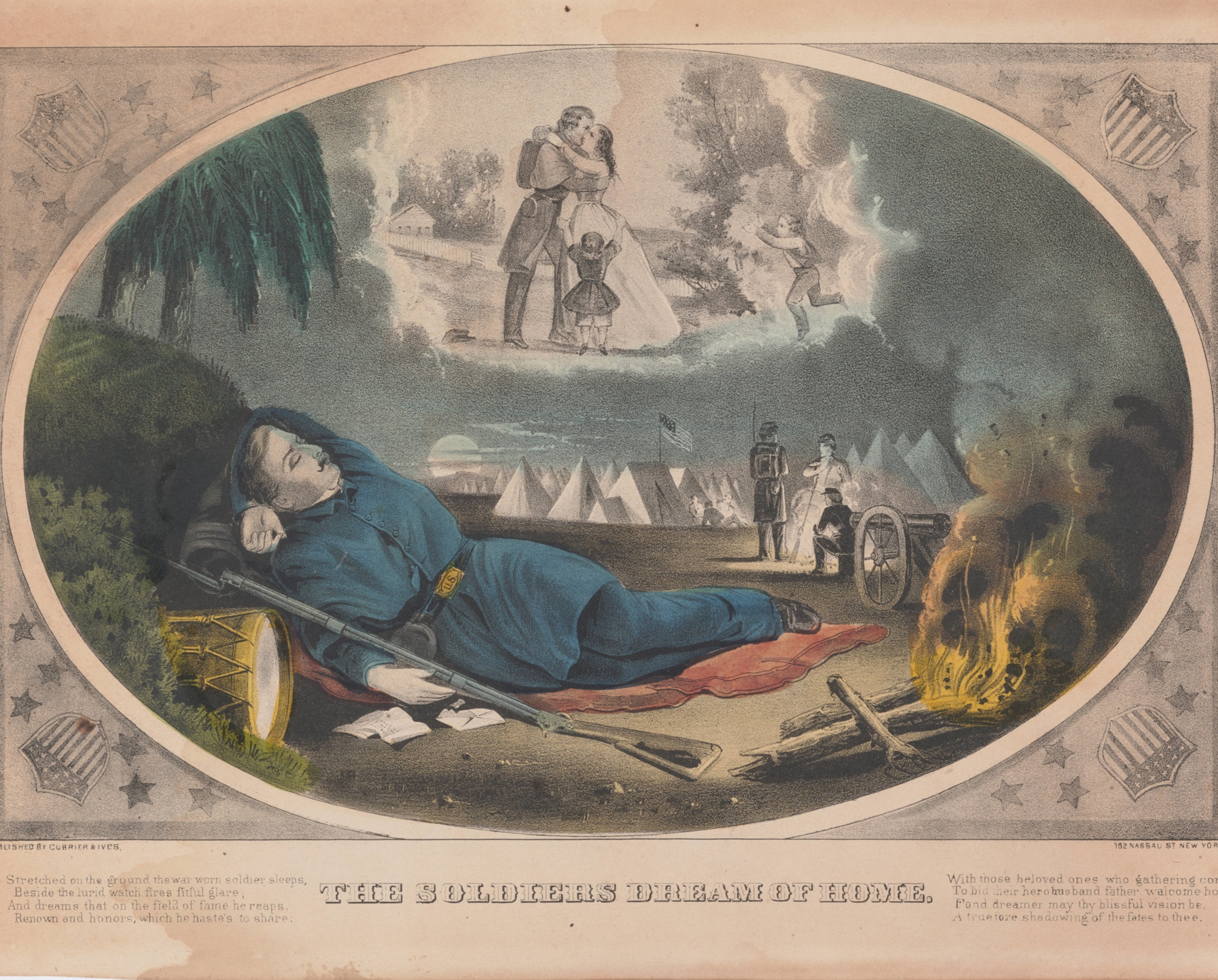 """""""The Soldier Dreams of Home,"""" courtesy of the Huntington Library"""