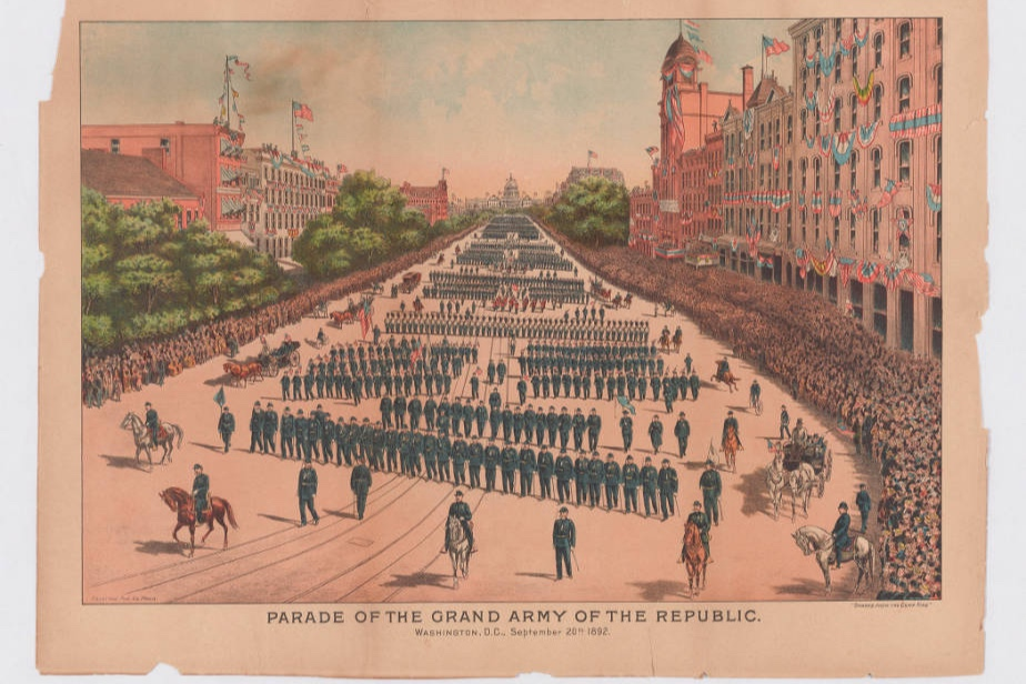 The Union army loved their parades, and so did Emma. Courtesy of the Huntington Library.