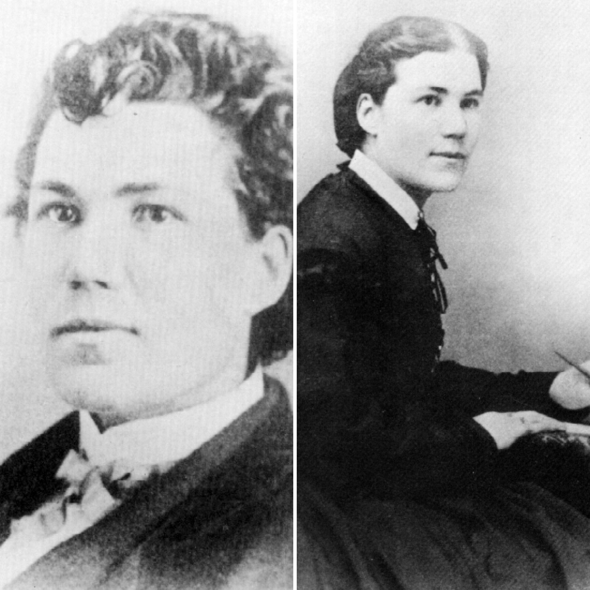 Emma's image, before life as a man and after. A dashing figure in either set of attire! - Courtesy of the Archives of Michigan.