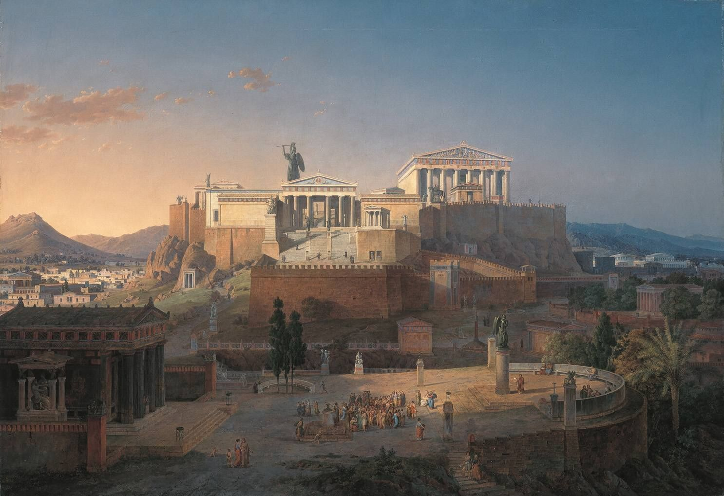 The Acropolis of Athens  by Leo von Klenze (1846).