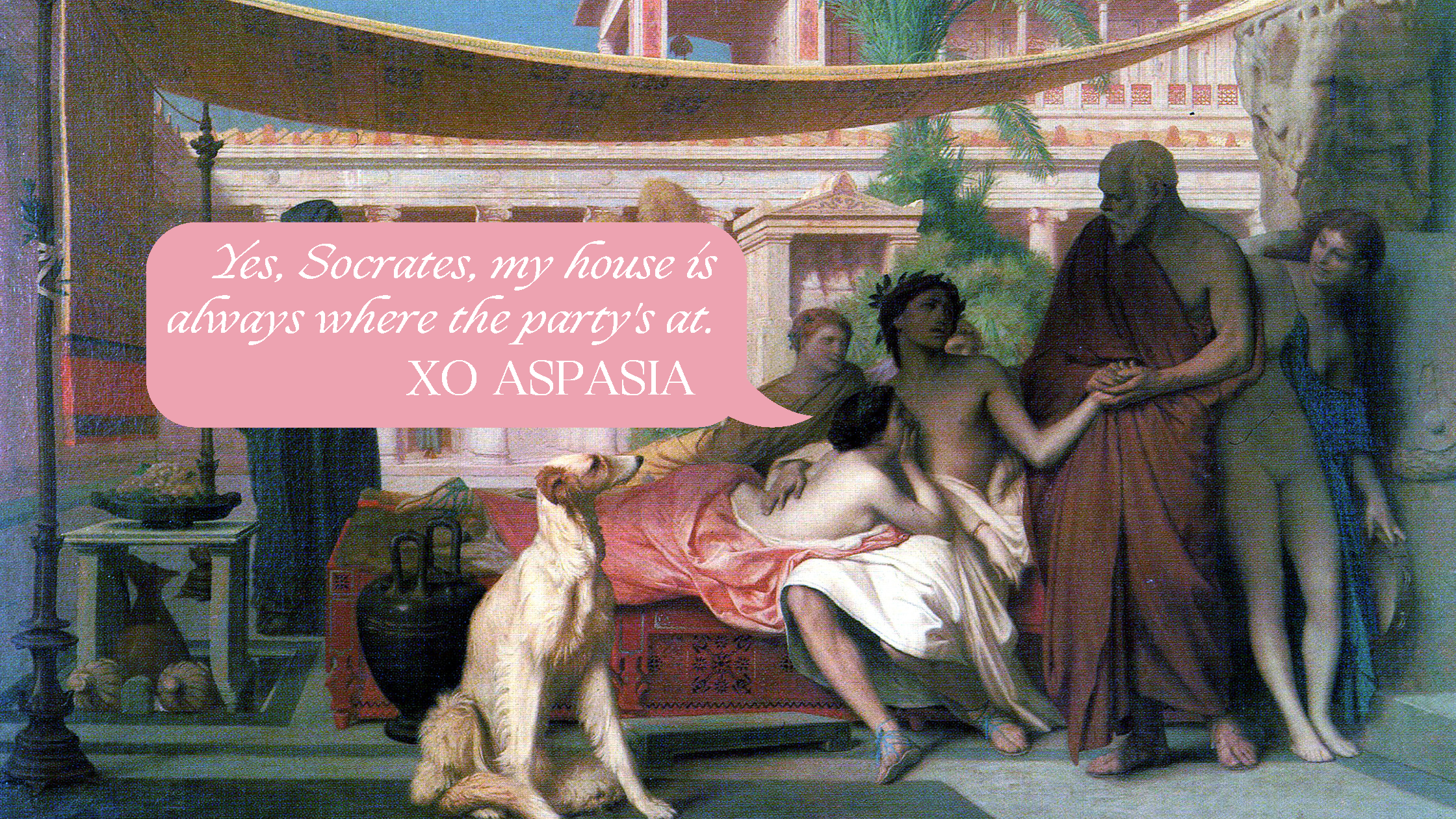 SOCRATES SEEKING ALCIBIADES AT THE HOUSE OF ASPASIA , 1861  signed and dated J. L. GEROME. MDCCCLXI.