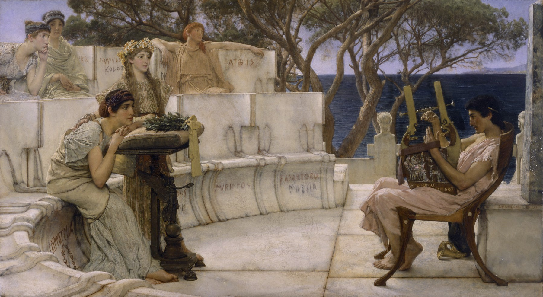 let's get inspired,shall we? - Sir Lawrence Alma-Tadema's Sappho and Alcaeus, courtesy of The Walters Museum.