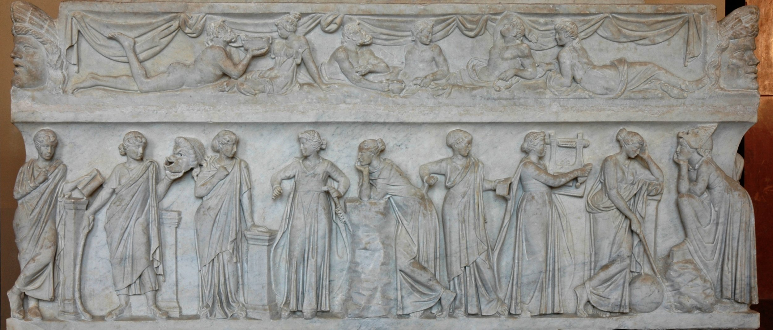 just living that muse life. - The Nine Muses, from a Roman sarcophagus, courtesy of the Louvre