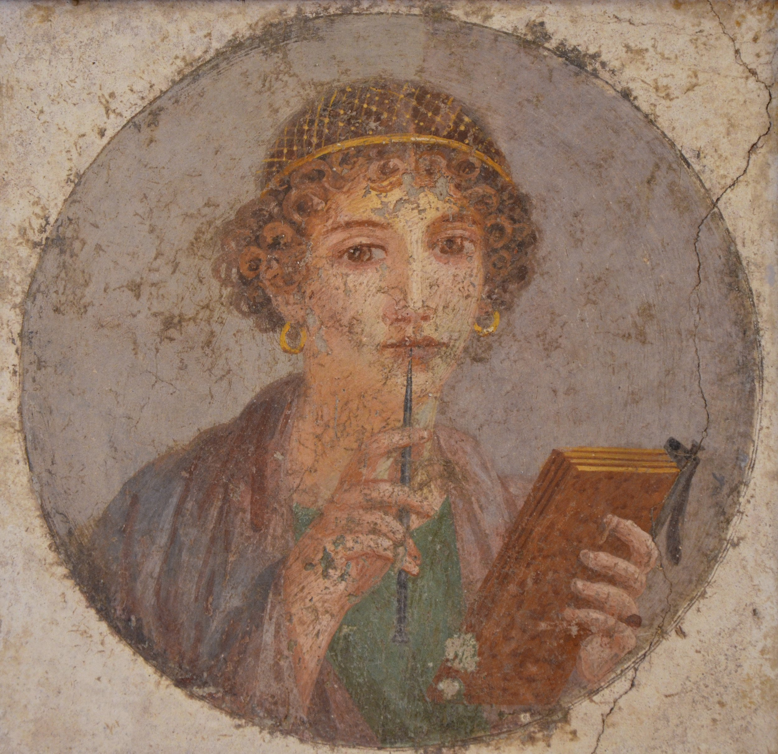 This is the image that often pops up for Sappho, but it's probably not her: she is far too mysterious to make things that easy for us.