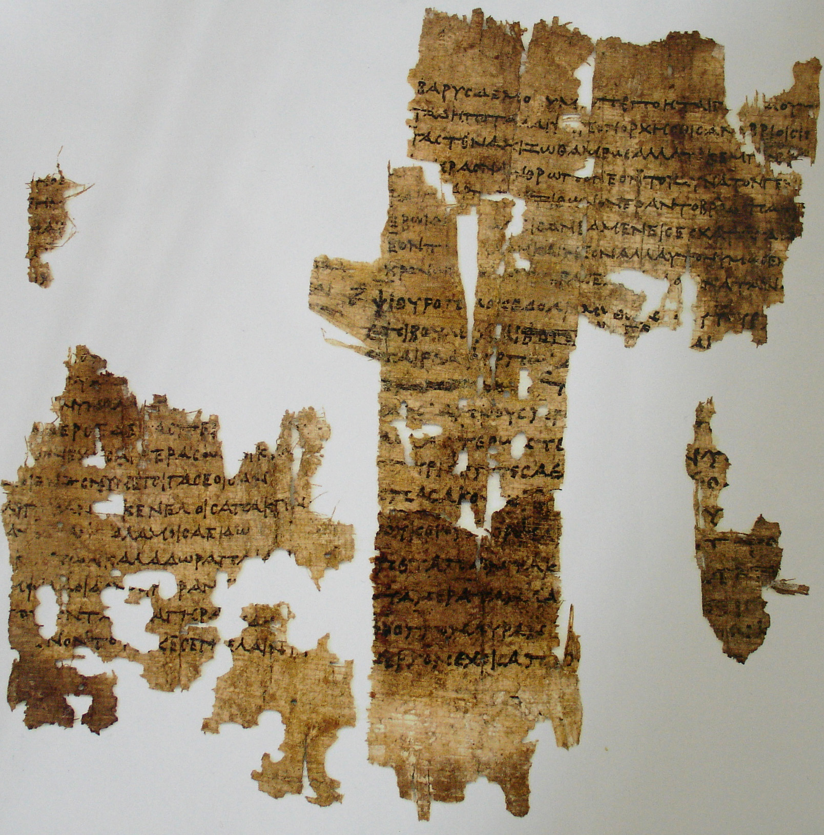 Most of Sappho's poetry is preserved in manuscripts of other ancient writers or on papyrus fragments, but part of one poem survives on a potsherd.