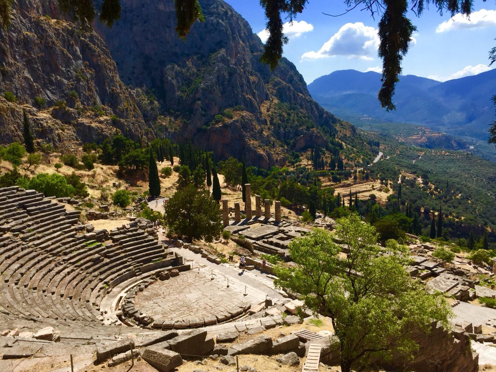 the modern-day site where the oracle of delphi would have spoken many hallucinogenic truths. - Courtesy of Spomenka Krizmanic