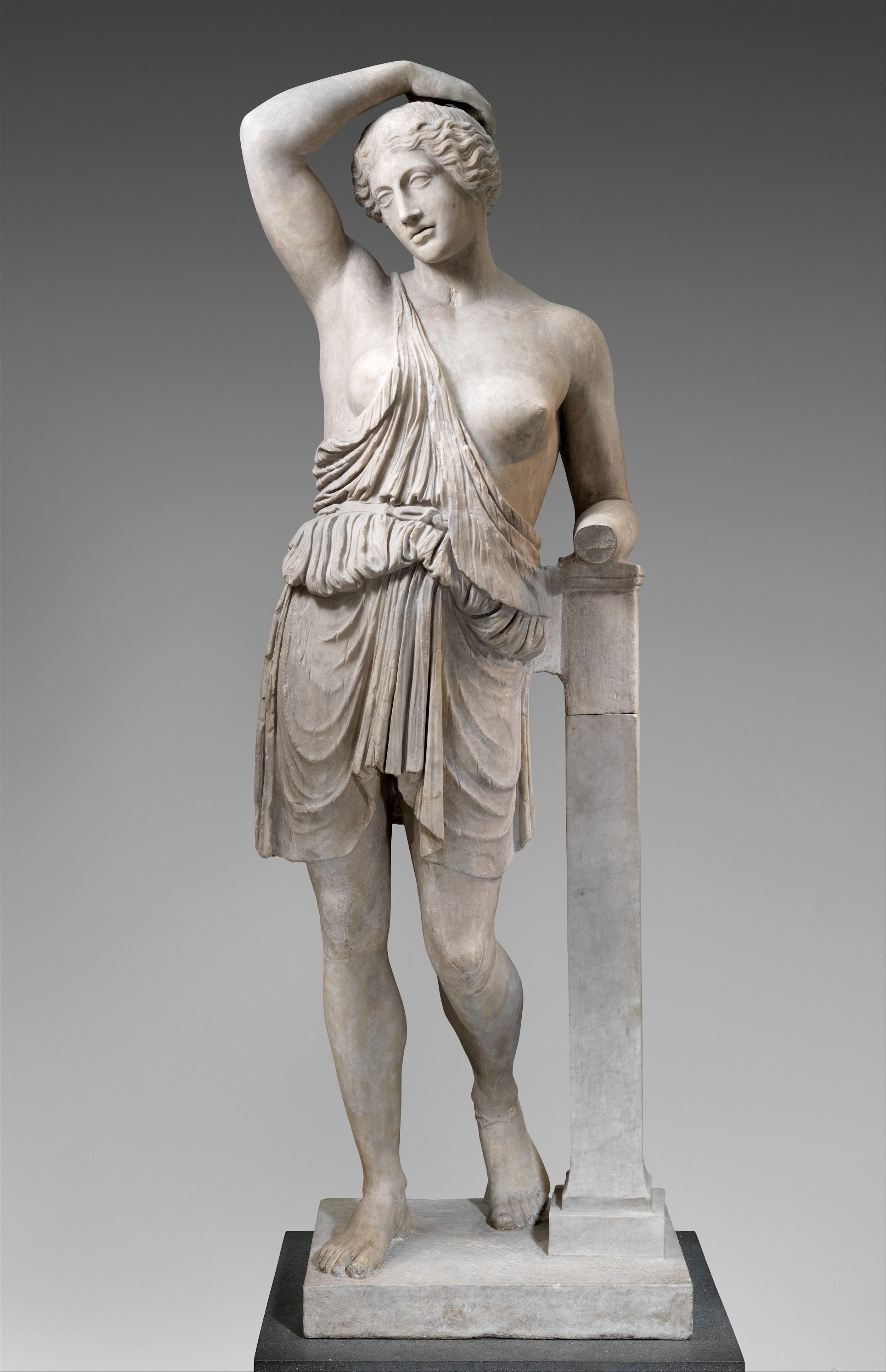 Battle ready. - Marble statue of a wounded Amazon, courtesy of the MET.