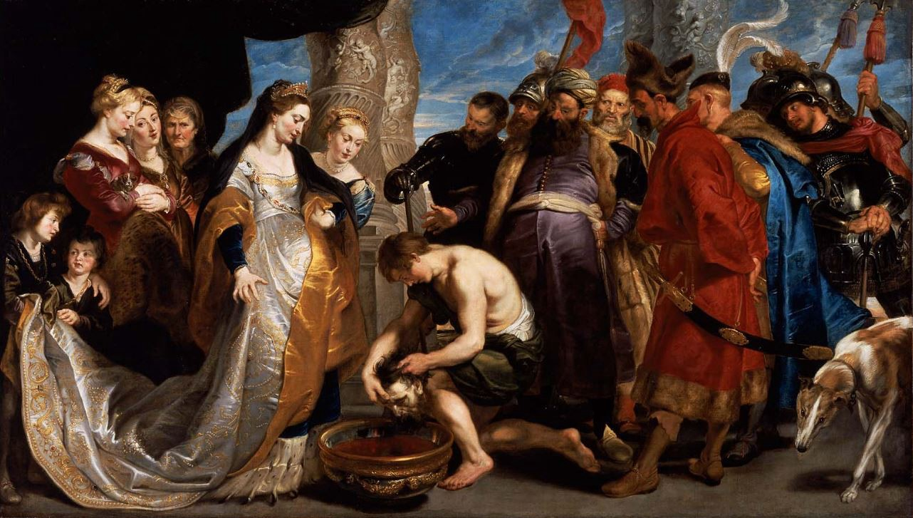 drink it, B*tch. - Tomyris Plunges the Head of the Dead Cyrus Into a Vessel of Blood by Rubens, Wikicommons.