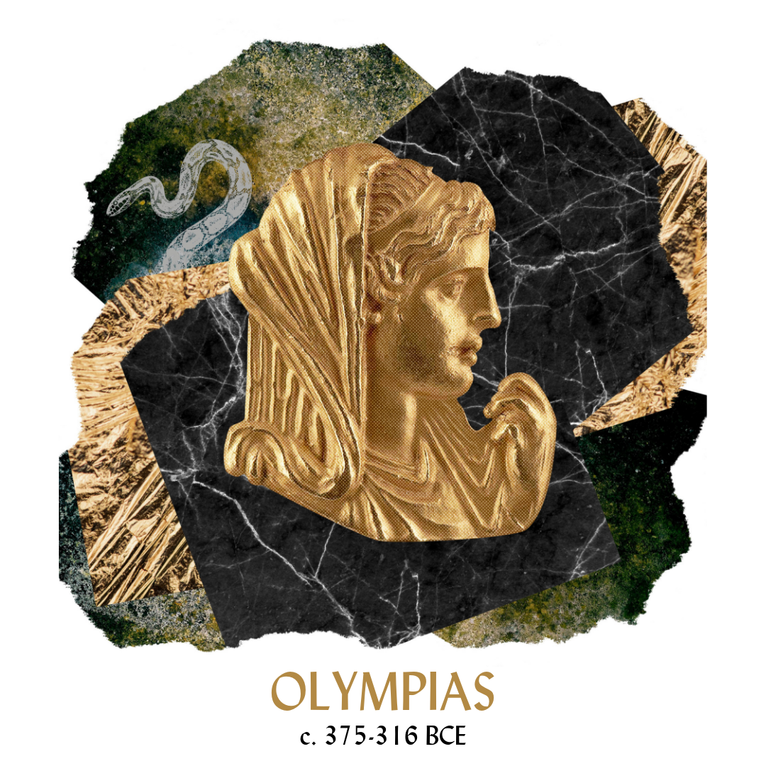 Isn't she delightful? Get this epic Olympias collage as a greeting card or art print: just clink the Merchandise tab and go on over to my Etsy shop!