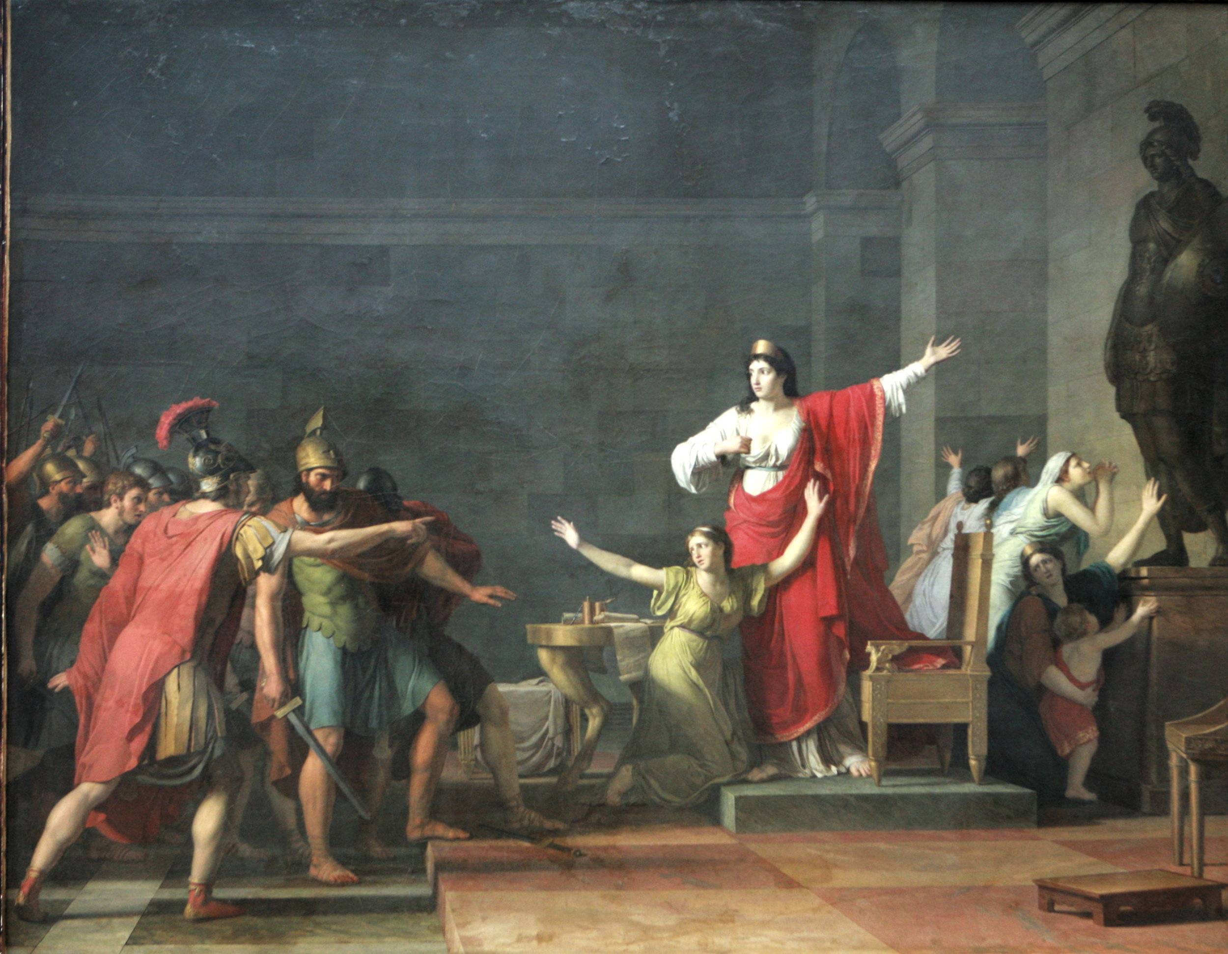 Olympias running the room, as always. - Cassandre et Olympia by Jean Joseph Taillasson