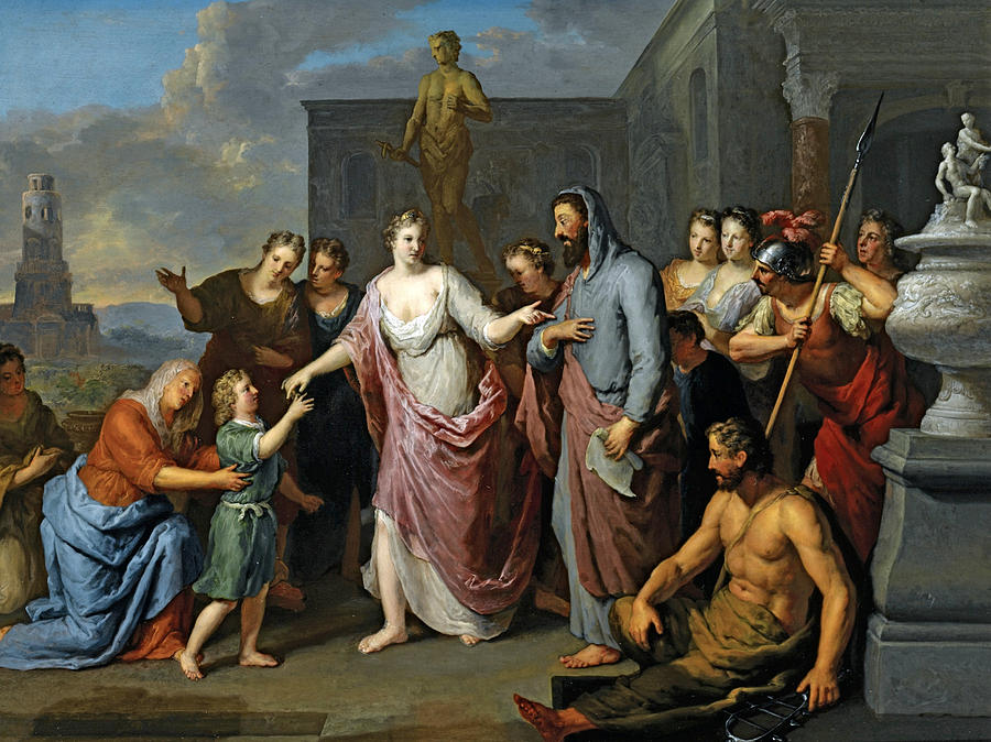 Move over, Phil. I've got this. - Olympia Presenting The Young Alexander The Great to Aristotle, Gerard Hoet