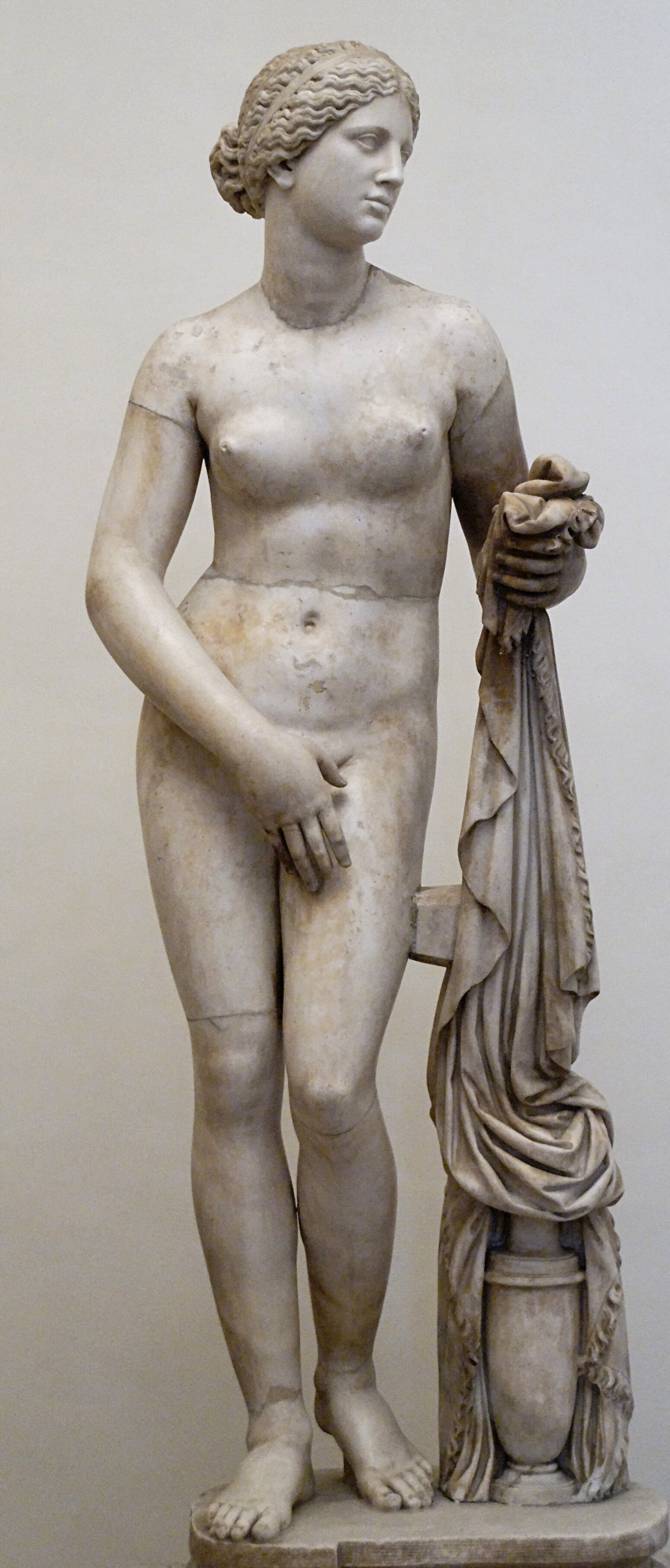 i've plucked more than just my unwanted facial hair. - Aphrodite of Cnidus by Praxiteles of Athens, Wikicommons.